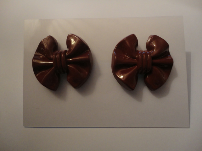 Large Bow Earrings