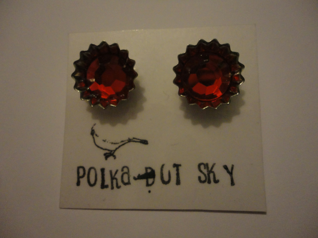Red Bottle Top Earrings 6