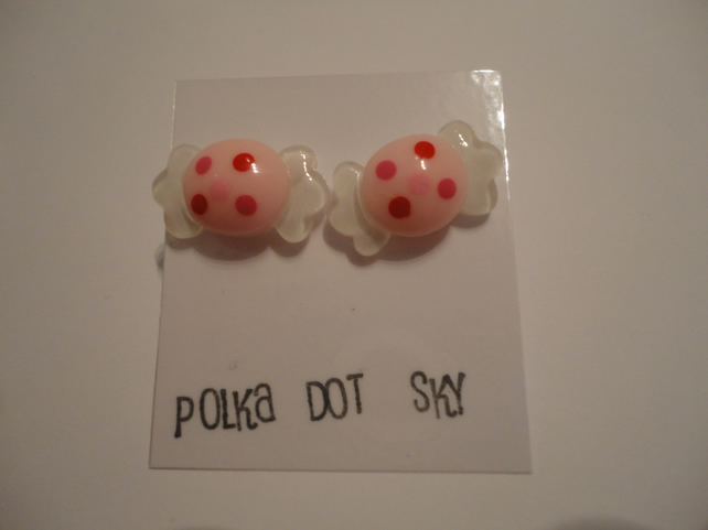 Pink Center Sweetie Earrings