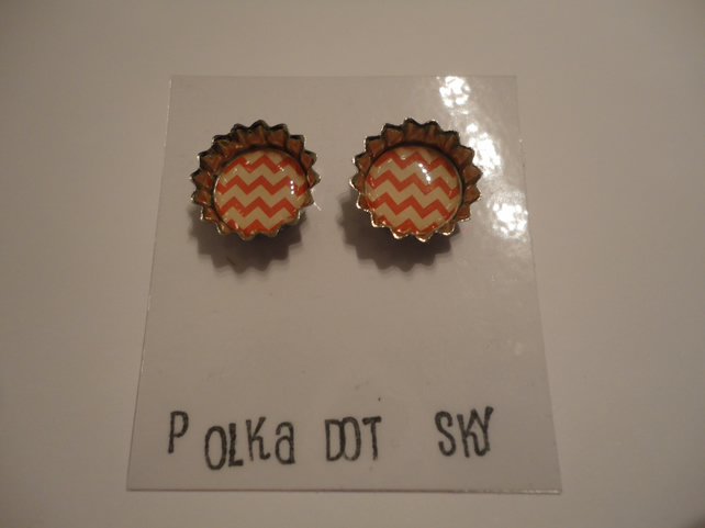 Bottle Top Style Earrings 12