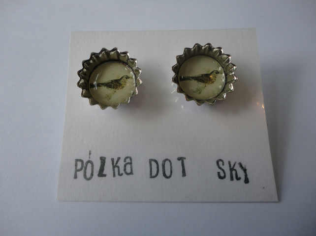 Bird Bottle Top Earrings