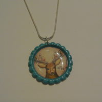 Flat Coloured Bottletop Necklace 1