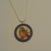 Flat Coloured Bottletop Necklace 3