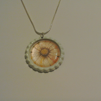Flat Coloured Bottletop Necklace 4