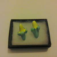 Blue Banana Earrings