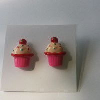 Bright Cupcake Earrings