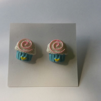 Spiral Cupcake Earrings