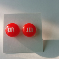 Red m&m Earrings