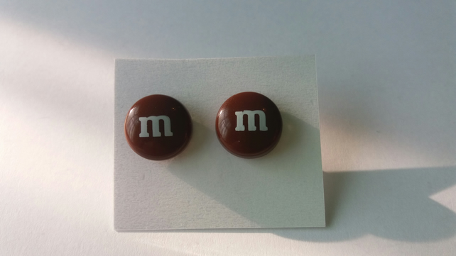 Brown m&m Earrings