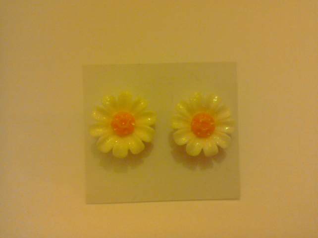 Glittery Flower Earrings 5