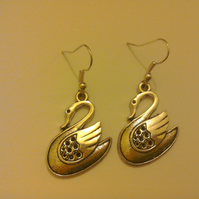 Swan Hook Earrings