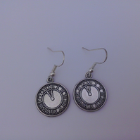 Clock Hook Earrings