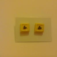 Square Chocolate Earrings