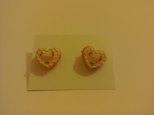 Love Heart Cake Earrings