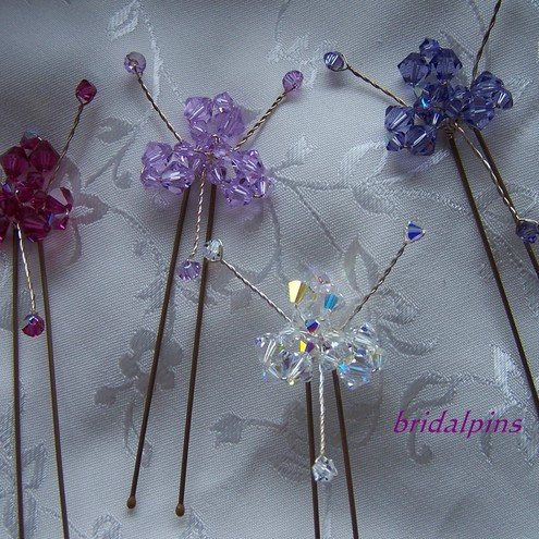 swarovski crystal flower pins
