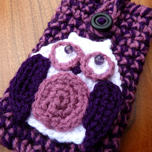 Owl crochet phone case