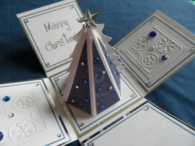 3D Christmas tree keepsake card