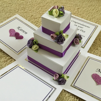 3D personalised wedding cake card