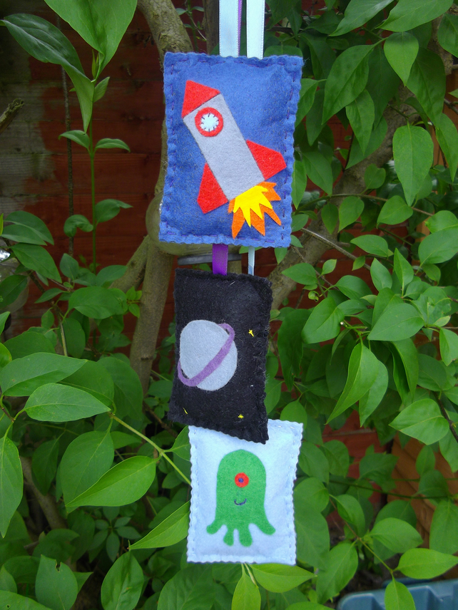 Outer space wall hanging