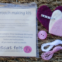 Felt brooch-making kit ... heart