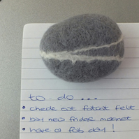 felt pebble fridge magnet