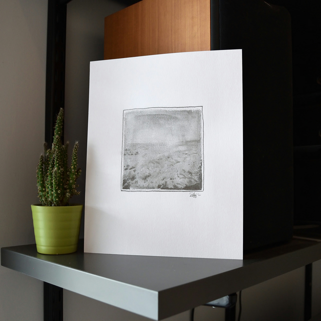 Salt Marshes pencil drawing
