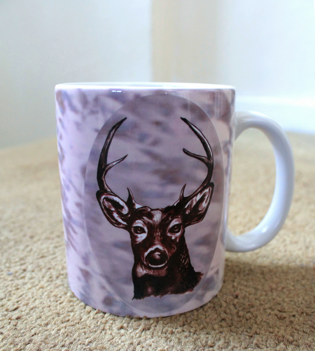 Deer Design Printed Mug