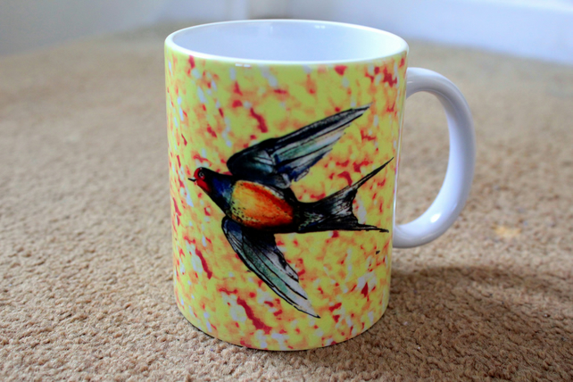 Bird Design Printed Mug