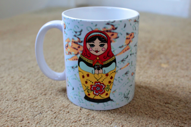 Russian Doll Design Mug