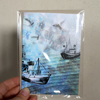 Sea Boat Greetings Card