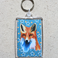 Fox and Star Keyring