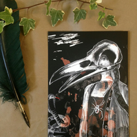 Occult Horror - A5 Illustration Print - Surreal Crow