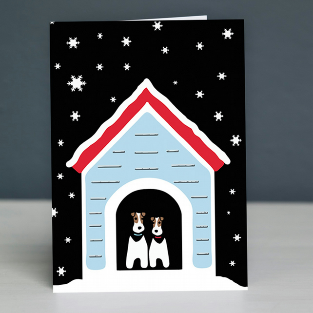 Snowy Dogs Christmas Card