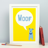 Barking Dog Print