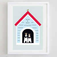 Personalised Wedding or Civil Partnership Print