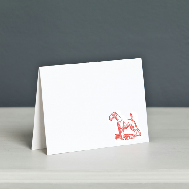 Wire Fox Terrier Letterpress Card