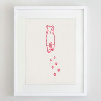 Walking Dog Gocco Miniprint