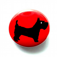 Scottish Terrier Dog Badge