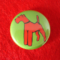 Irish Terrier Dog Badge