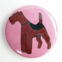 Airedale  Welsh Terrier Badge