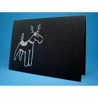 Rudolph Terrier Christmas Card