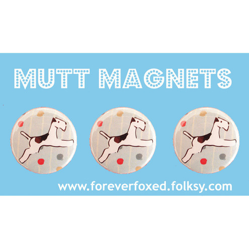 Flying Fox Terrier Magnets