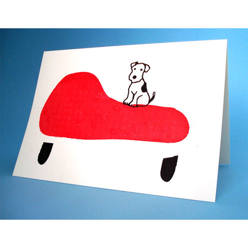 Terrier on a Chaise Longue Greeting Card