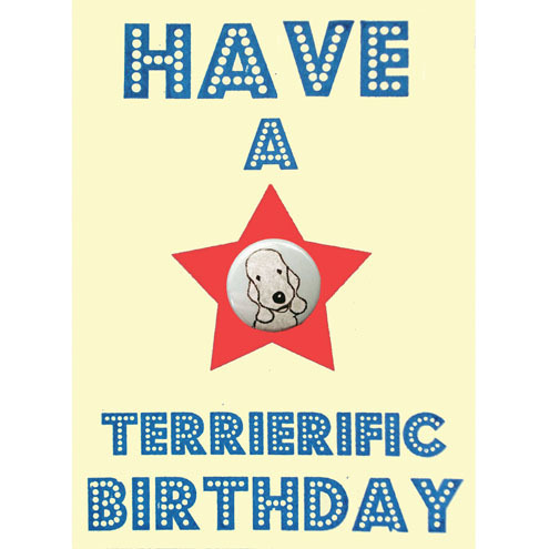 Have a Terrierific Birthday Card - Bedlington Terrier