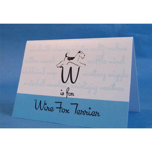 W is for Wire Fox Terrier Greeting Card