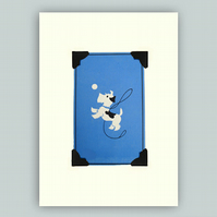 Jumping Terrier Greeting Card