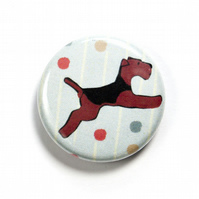 Flying Welsh Terrier Badge