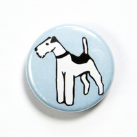 Fox Terrier Dog Badge