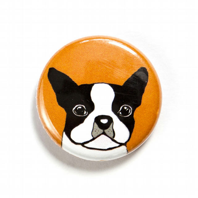 Boston Terrier Dog Badge