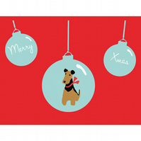 Welsh Terrier Christmas Card